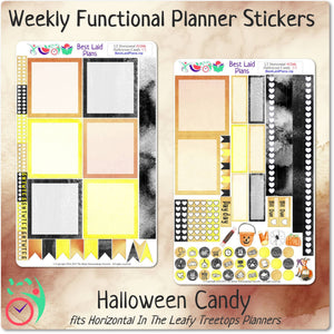 Leafy Treetops Horizontal Weekly Kit Halloween Candy
