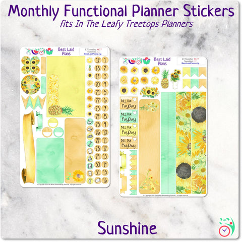 Leafy Treetops Dashboard Weekly Kit Sunshine
