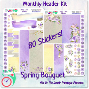 Leafy Treetops Monthly Headers Spring Bouquet