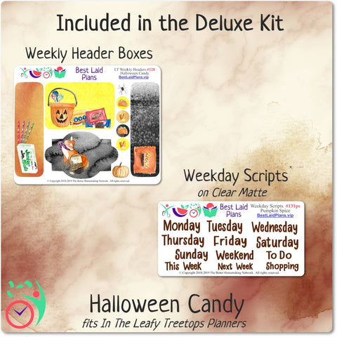 Image of Leafy Treetops Horizontal Weekly Kit Halloween Candy