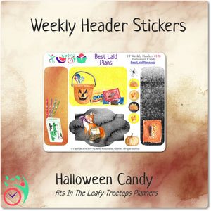 Leafy Treetops Weekly Header Boxes Halloween Candy