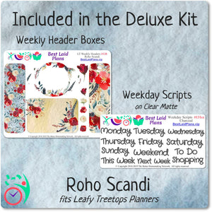 Leafy Treetops Horizontal Weekly Kit Roho Scandi