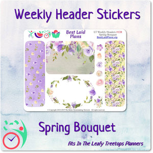 Leafy Treetops Weekly Header Boxes Spring Bouquet