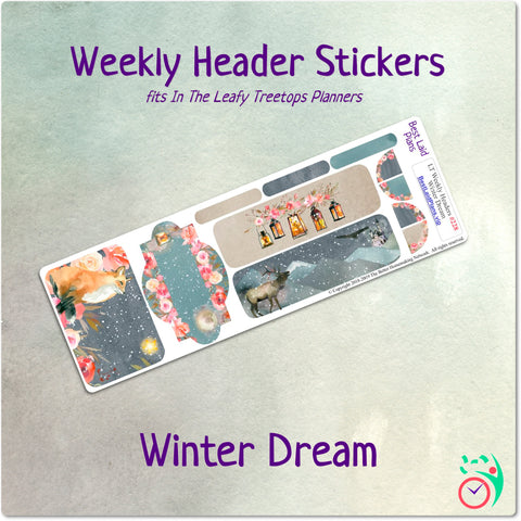 Image of Leafy Treetops Weekly Header Boxes Winter Dream