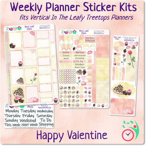 Leafy Treetops Vertical Weekly Kit Happy Valentine