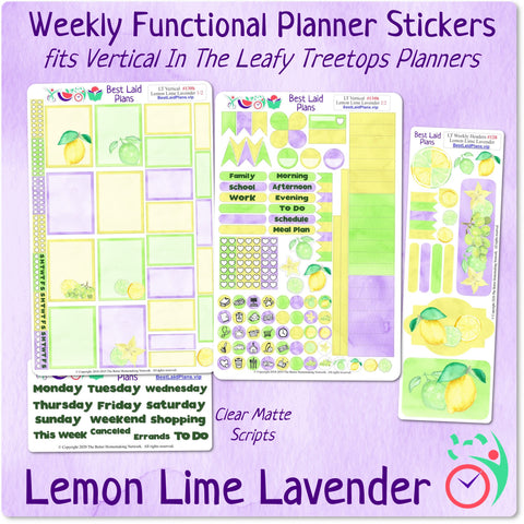 Image of Leafy Treetops Vertical Weekly Kit Lemon Lime Lavender