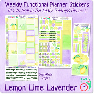 Leafy Treetops Vertical Weekly Kit Lemon Lime Lavender