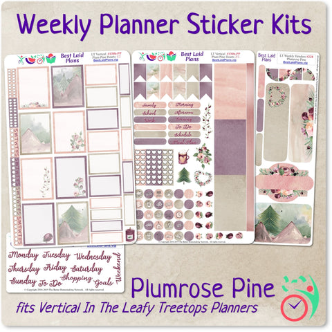 Image of Leafy Treetops Vertical Weekly Kit Plumrose Pine