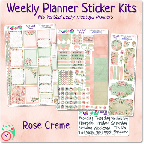 Image of Leafy Treetops Vertical Weekly Kit Rose Creme
