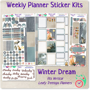 Leafy Treetops Vertical Weekly Kit Winter Dream