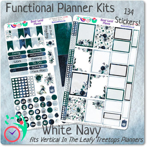 Leafy Treetops Vertical Weekly Kit White Navy