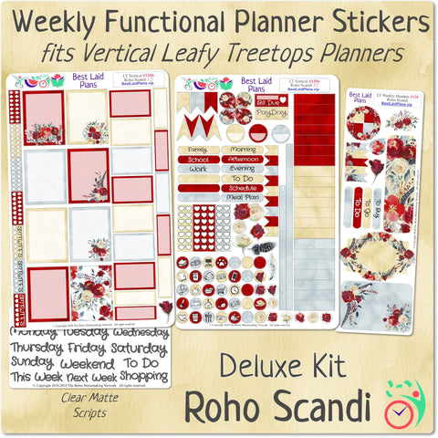 Leafy Treetops Vertical Weekly Kit Roho Scandi