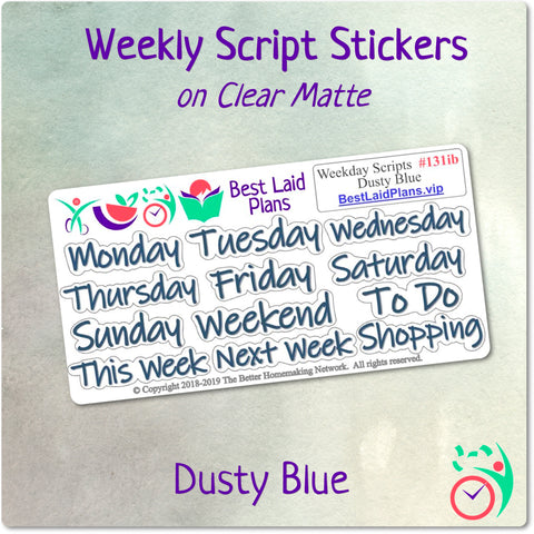Image of Weekday Scripts Dusty Blue