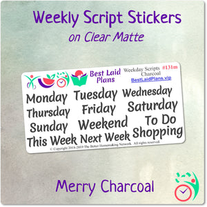 Weekday Scripts Merry Charcoal