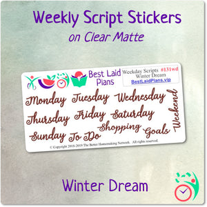 Weekday Scripts Winter Dream