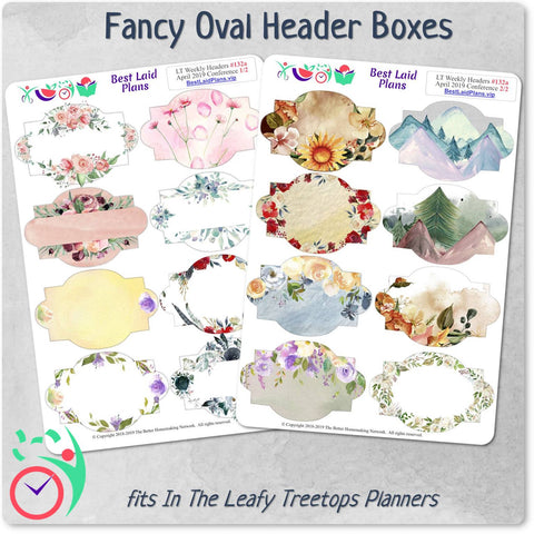 Image of Leafy Treetops Weekly Fancy Header Boxes