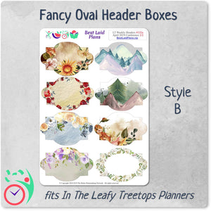 Leafy Treetops Weekly Fancy Header Boxes