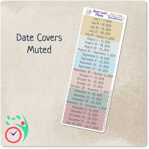 Weekly Date Covers