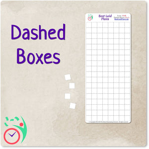 Large Dashed Boxes