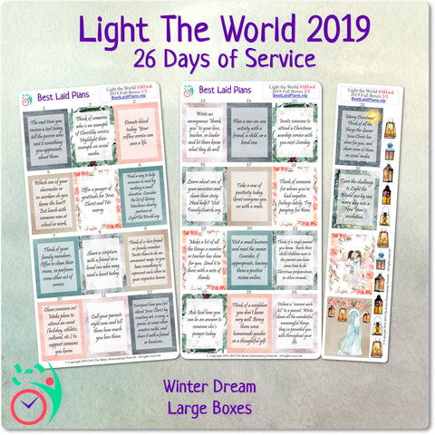 Image of Light The World Christmas Service Calendar Stickers 2019