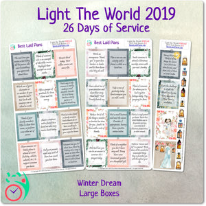 Light The World Christmas Service Calendar Stickers 2019