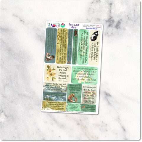 Image of LDS General Conference Quotes Planner Stickers Floral.