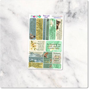 LDS General Conference Quotes Planner Stickers Floral.