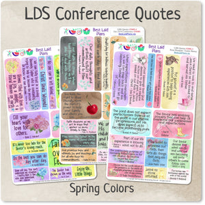 LDS General Conference Quotes Spring Colors Bundle