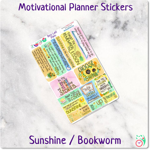 Motivational Quotes Set 7 - Sunshine Bookworm