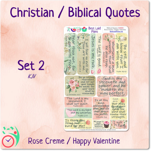 Image of Biblical Quotes 2 Rose Creme / Happy Valentine