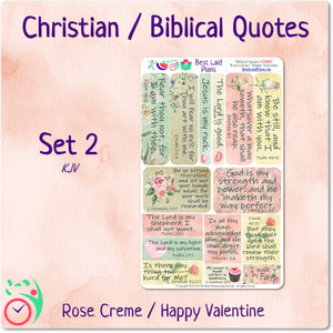 Biblical Quotes 2 Rose Creme / Happy Valentine