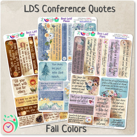 LDS General Conference Quotes Fall Kit