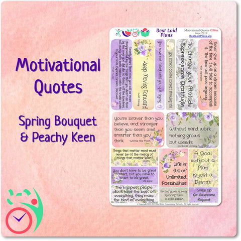 Image of Motivational Quotes 1 Spring Bouquet / Peachy Keen