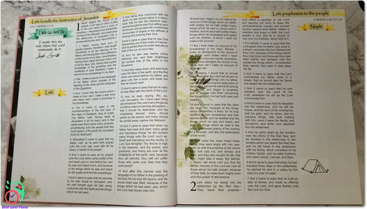 Come Follow Me Book of Mormon Scripture Journaling Stickers Week 2 1 Nephi 1 - 7