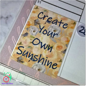 Motivational Quotes Planner Stickers Fall Colors Set