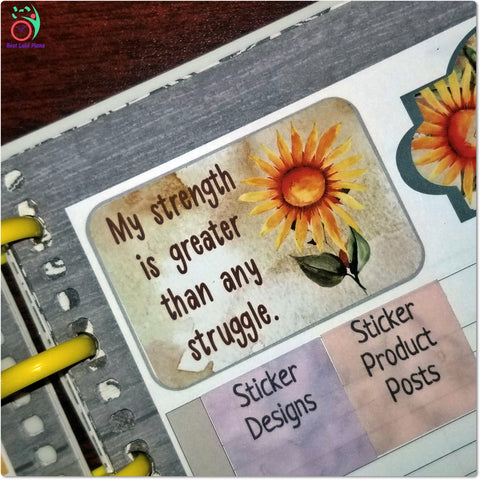 Image of Motivational Quotes Planner Stickers Fall Colors Set