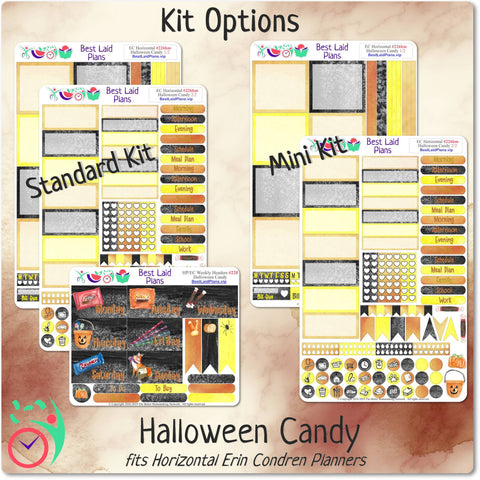 Image of Erin Condren Horizontal Weekly Kit Halloween Candy