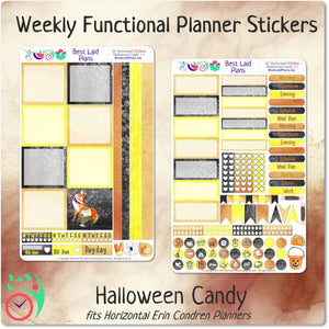 Erin Condren Horizontal Weekly Kit Halloween Candy