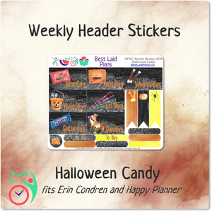 Happy Planner Classic Vertical Weekly Kit Halloween Candy
