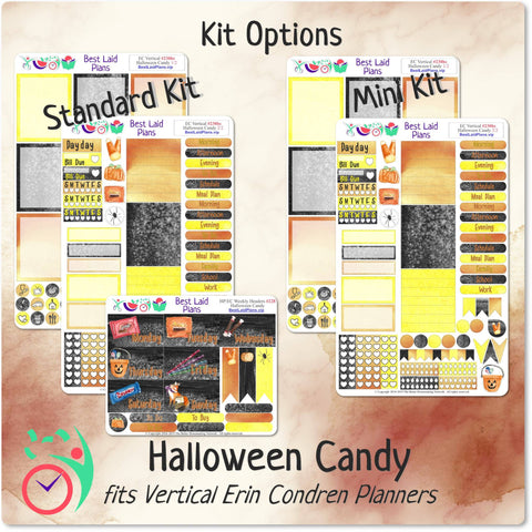 Image of Erin Condren Vertical Weekly Kit Halloween Candy
