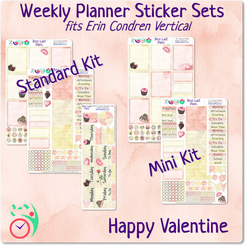 Image of Erin Condren Vertical Weekly Kit Happy Valentine