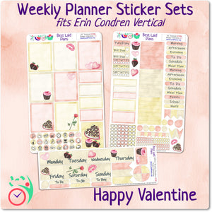 Erin Condren Vertical Weekly Kit Happy Valentine