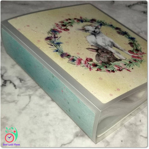 Large Sticker Storage Album / Photo Book - Easter Leaves