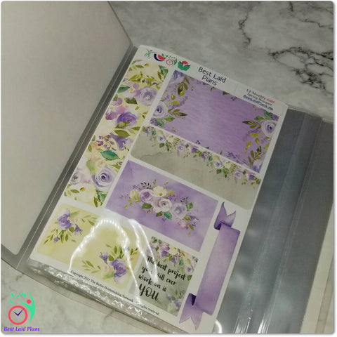 Image of Large Sticker Storage Album / Photo Book - Easter Leaves