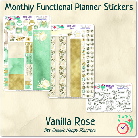 Image of Classic Happy Planner Monthly Kit Vanilla Rose