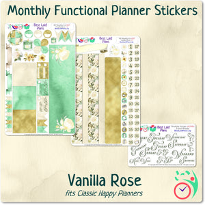 Classic Happy Planner Monthly Kit Vanilla Rose