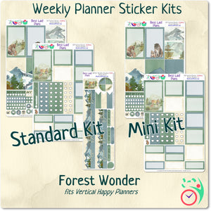 Classic Happy Planner Vertical Weekly Kit Forest Wonder