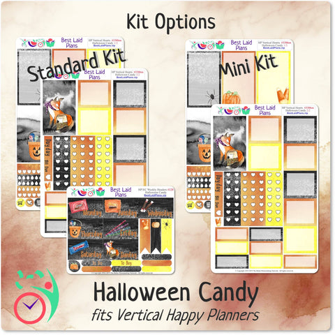 Image of Happy Planner Classic Vertical Weekly Kit Halloween Candy