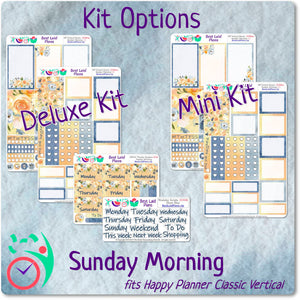 Happy Planner Classic Vertical Weekly Kit Sunday Morning