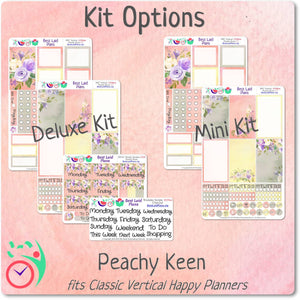Happy Planner Classic Vertical Weekly Kit Peachy Keen